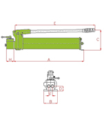 Hydraulic Hand Pumps Type (X) for double acting Cylinders